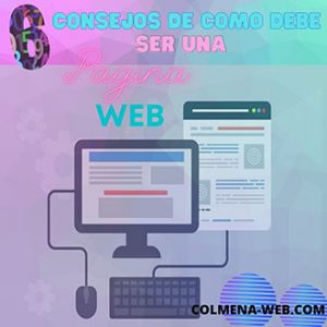 Consejos de como debe de ser una pagina web